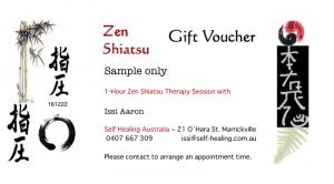 Self Healing Australia Shiatsu gift voucher