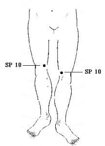 Spleen Meridian Point 10 - SP 10