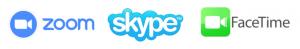 zoom skype facetime logos